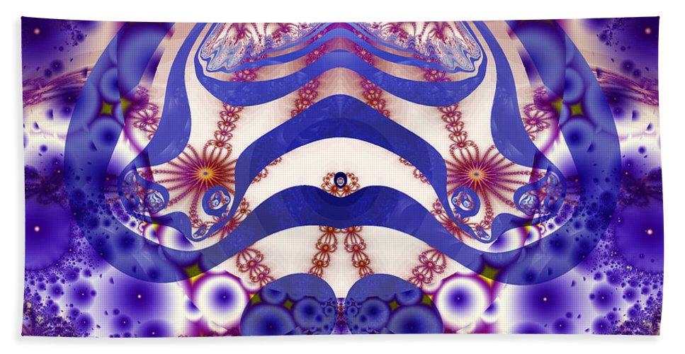 Fractal Beach Towel featuring the digital art Joy by Debra Martelli