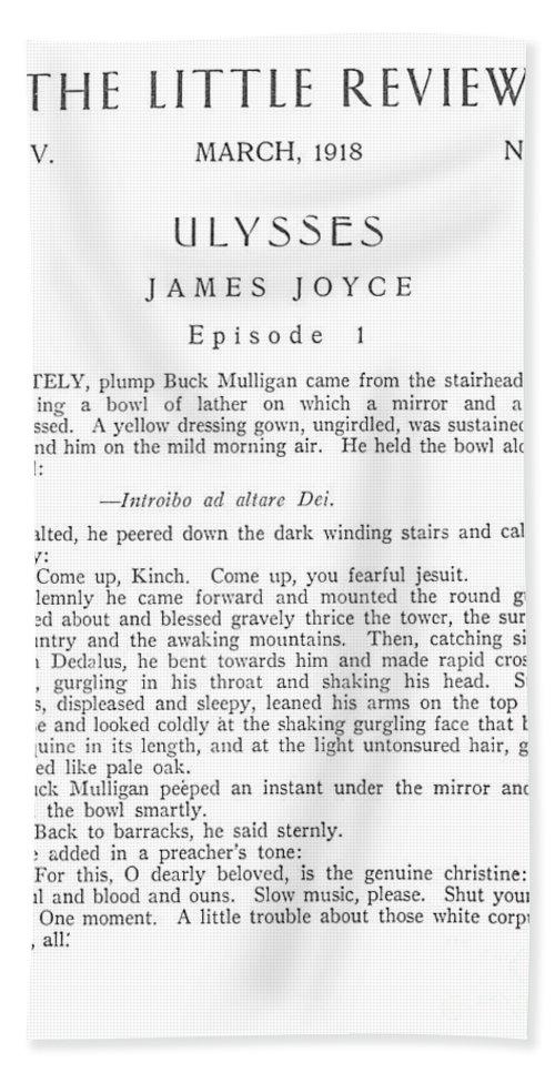 Joyce Ulysses 1918 Beach Sheet
