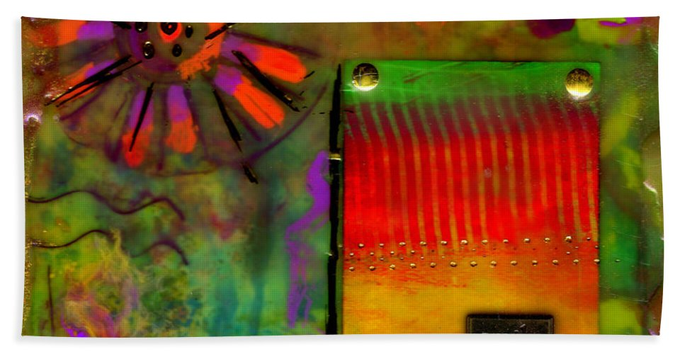 Wood Beach Towel featuring the mixed media Just Asking For A Smile by Angela L Walker