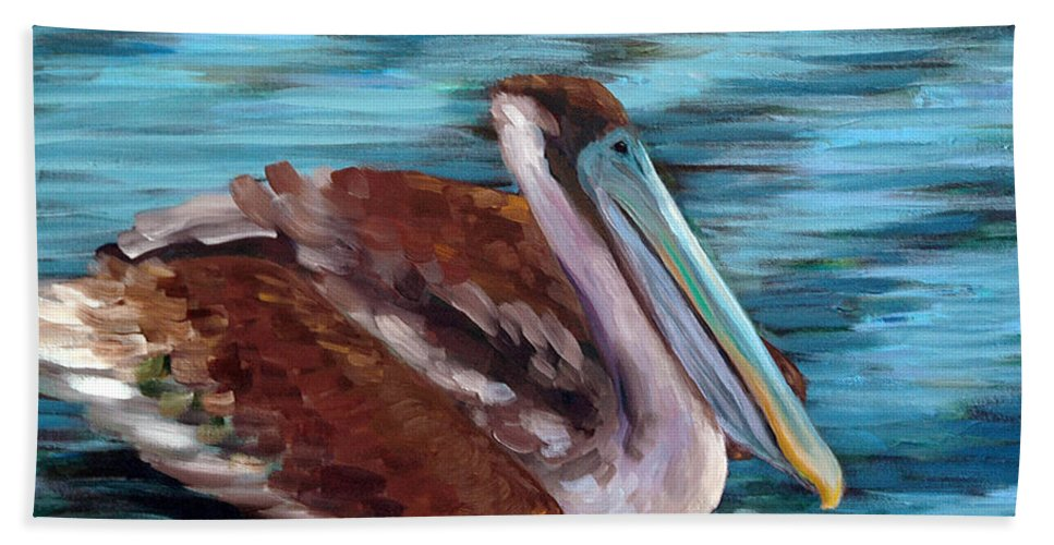 Acrylic Beach Towel featuring the painting Just Cruisin by Suzanne McKee