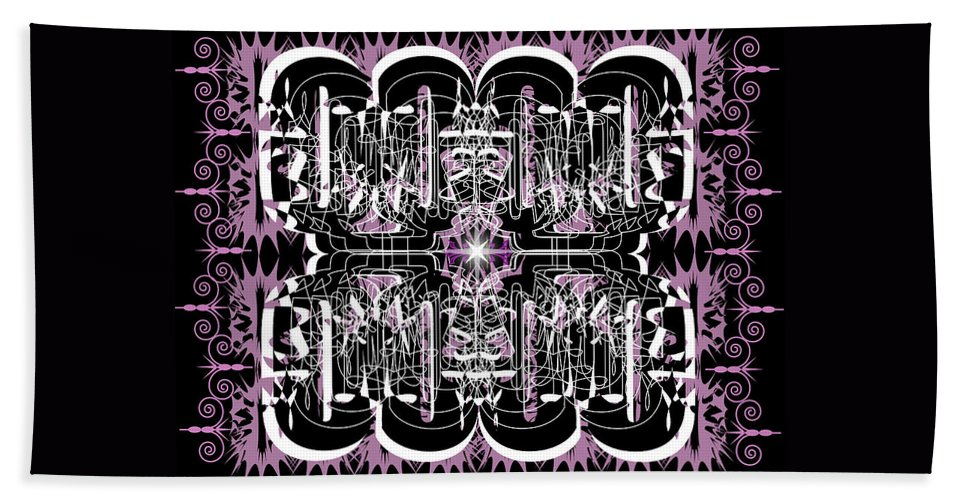 Abastract Beach Towel featuring the digital art Just For Fun 3 by George Pasini