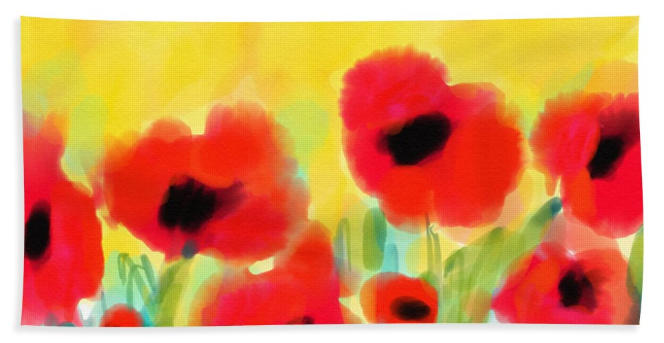 Poppies Beach Towel featuring the digital art Just Poppies by Cristina Stefan