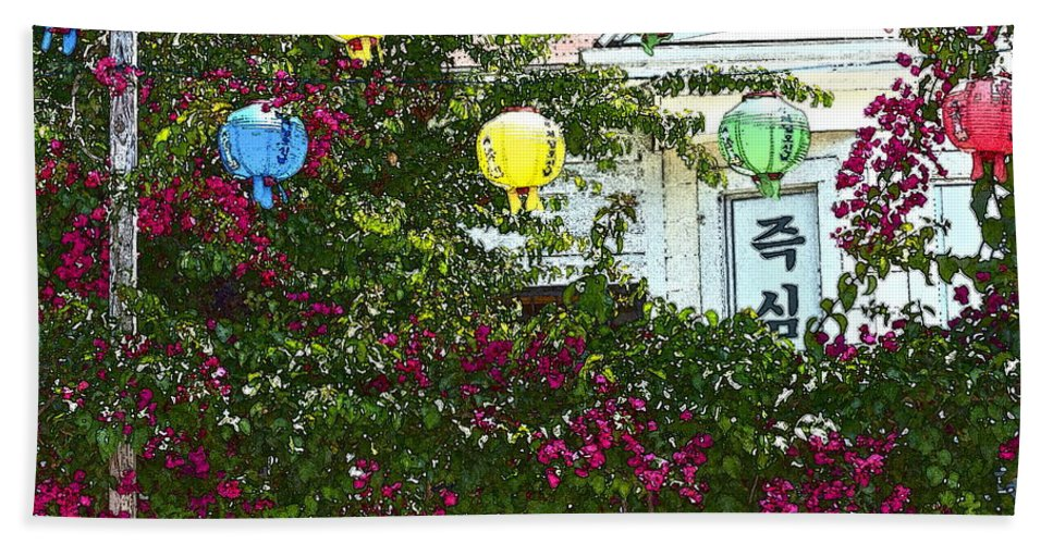 Korea Beach Towel featuring the photograph K-town La by Gwyn Newcombe