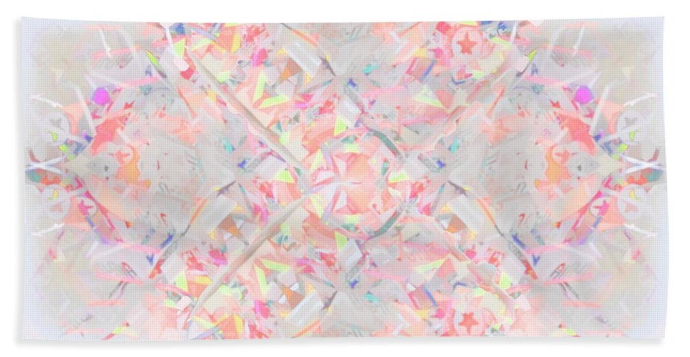 Leaves Beach Towel featuring the digital art Kaleidoscope Abstract by Ted Guhl