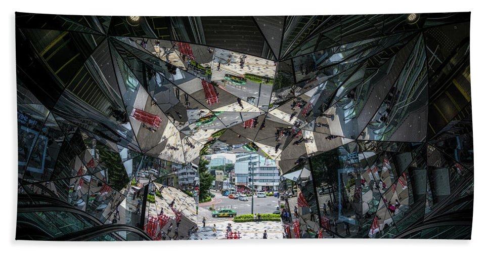 Kaleidoscopic Entrance Beach Towel featuring the photograph Kaleidoscopic Tokyo by Aaron Choi