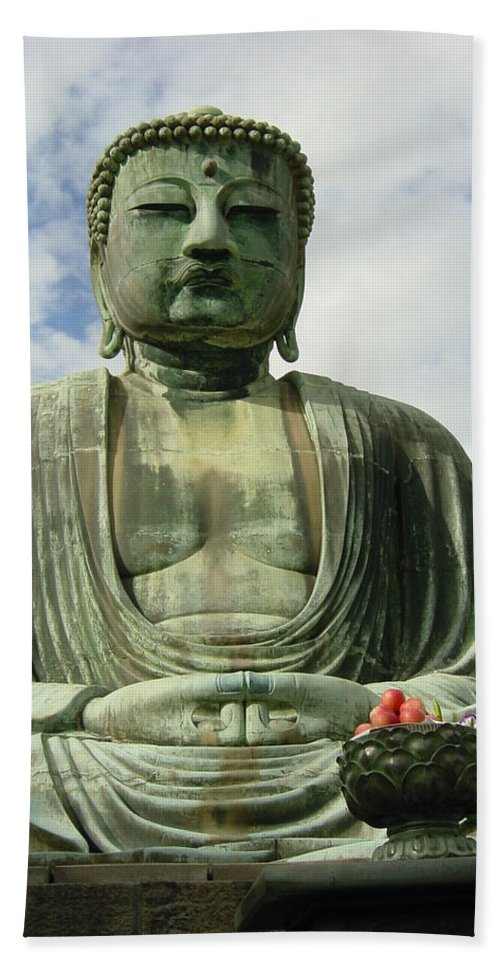 Buddha Beach Towel featuring the photograph Kamakura Daibutsu by D Turner