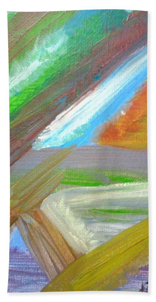 Kambia Town Beach Towel featuring the painting Kambia Town - Sierra Leone by Mudiama Kammoh