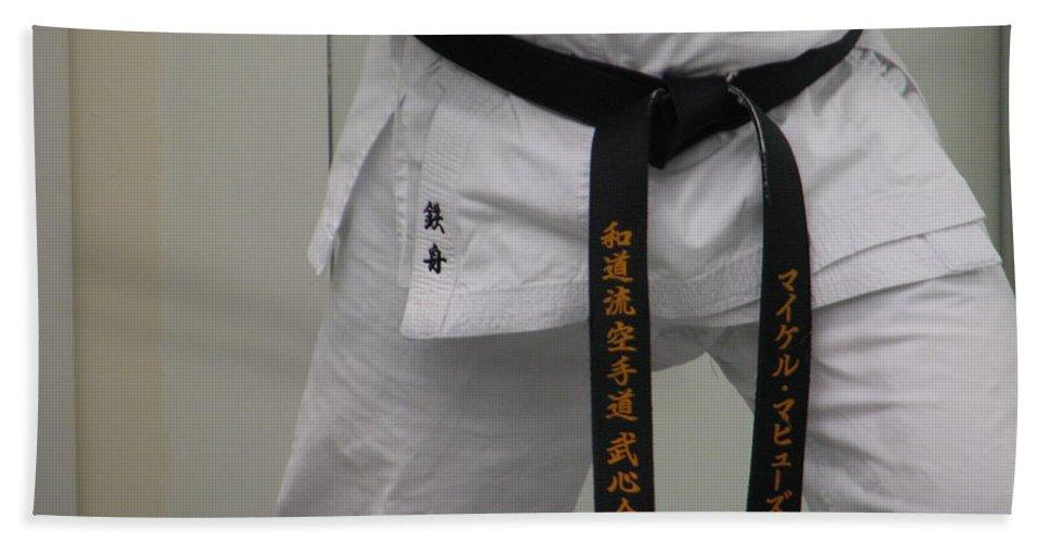 Karate Beach Towel featuring the photograph Kata by Kelly Mezzapelle