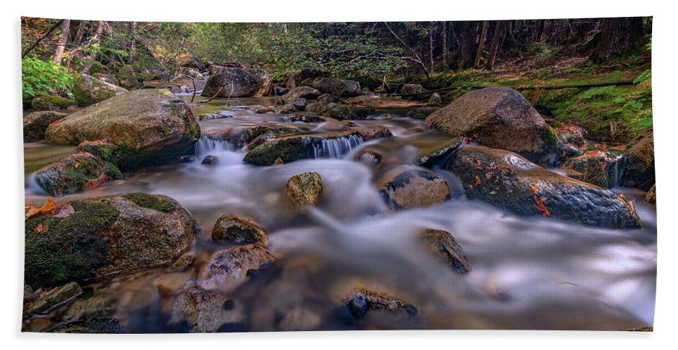 Waterfall Beach Sheet featuring the photograph Katahdin Stream by Rick Berk