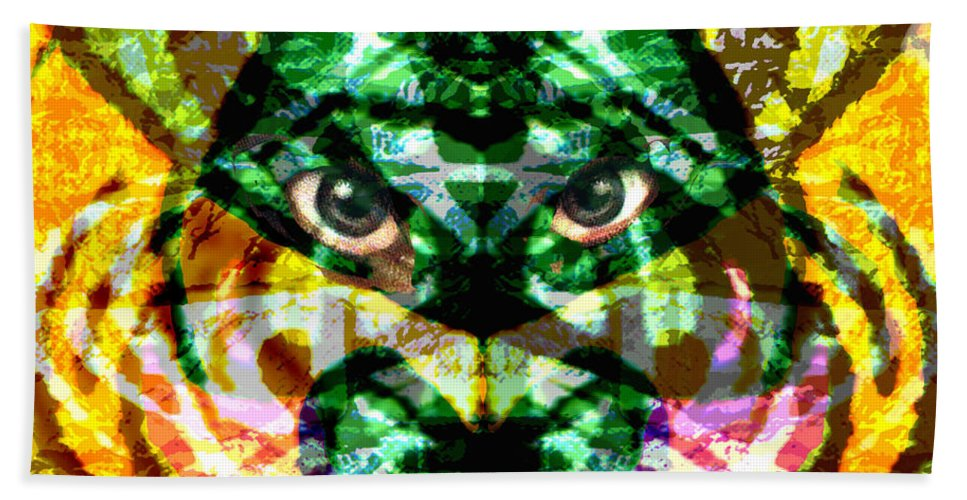 Abstract Beach Towel featuring the digital art Katmandu by Seth Weaver