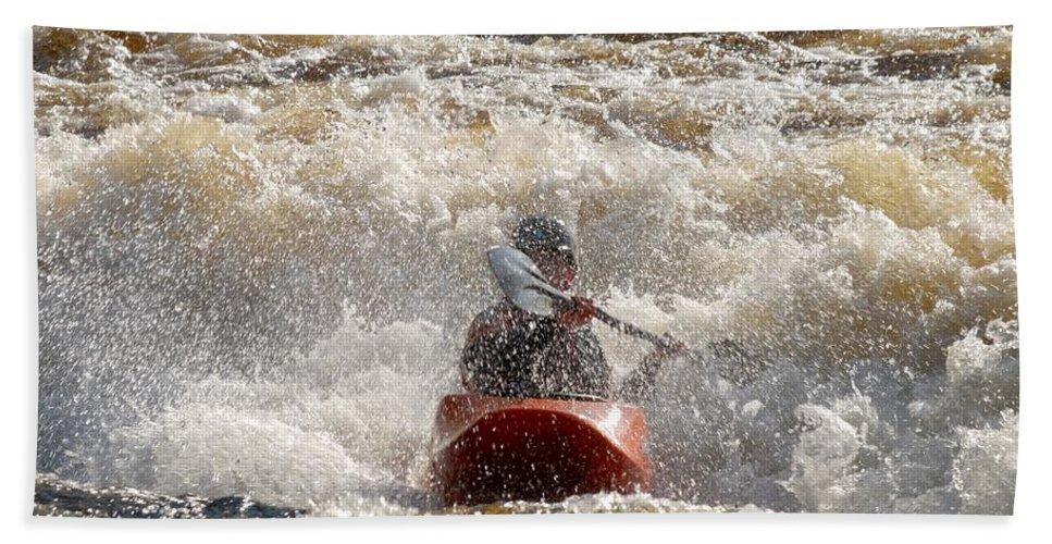 Lehtokukka Beach Towel featuring the photograph Kayak 5 by Jouko Lehto