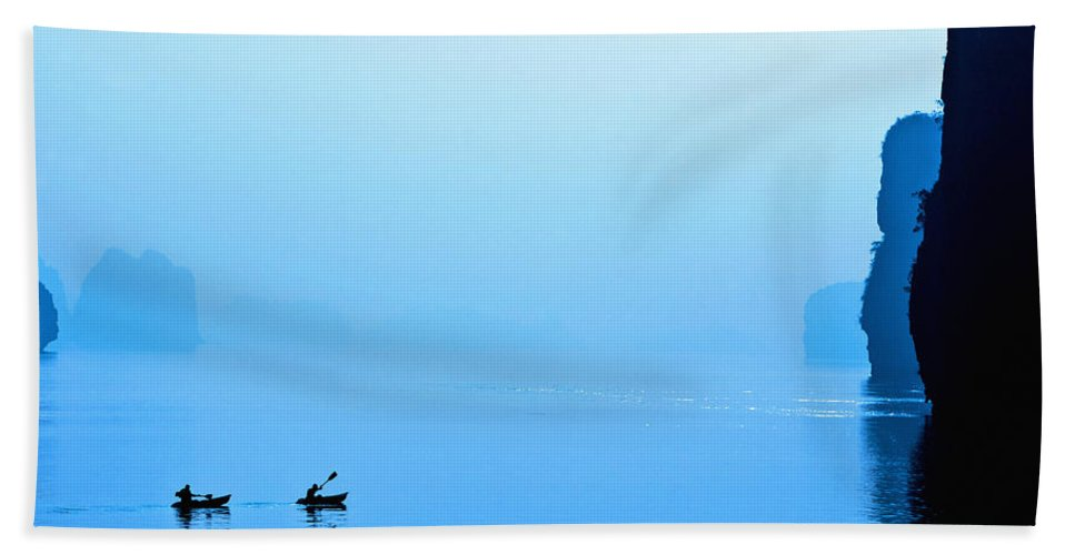 Accomplish Beach Towel featuring the photograph Kayaking by Skip Nall