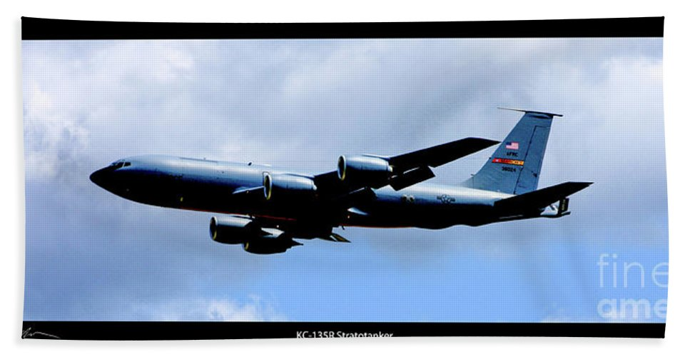 Kc-135r Beach Towel featuring the photograph Kc-135r Stratotanker Poster by Tommy Anderson