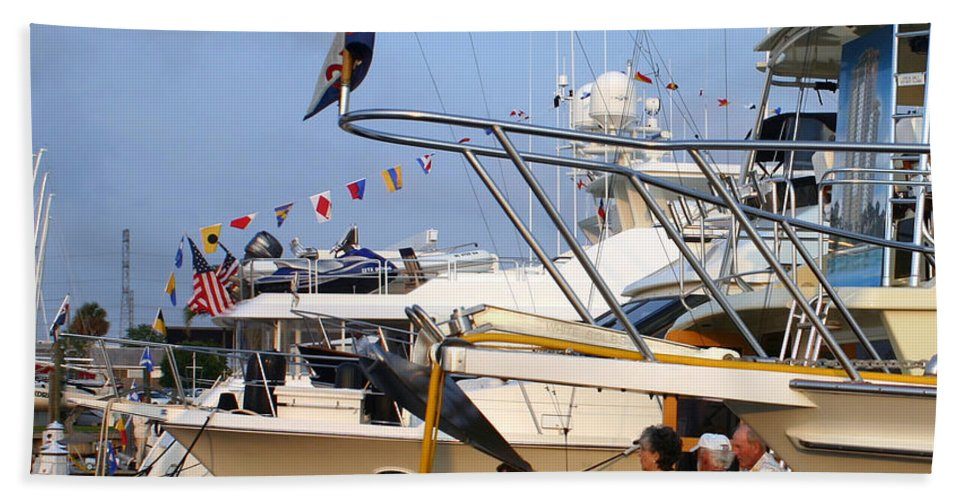 Yacht Portraits Beach Towel featuring the photograph Keels And Wheels Yachta Yachta Yachta Yachta by Jack Pumphrey
