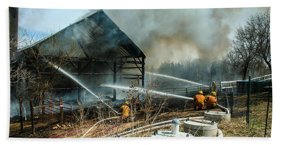 Firefighting Beach Towel featuring the photograph Keep Fire In Your Life #15 by Tommy Anderson