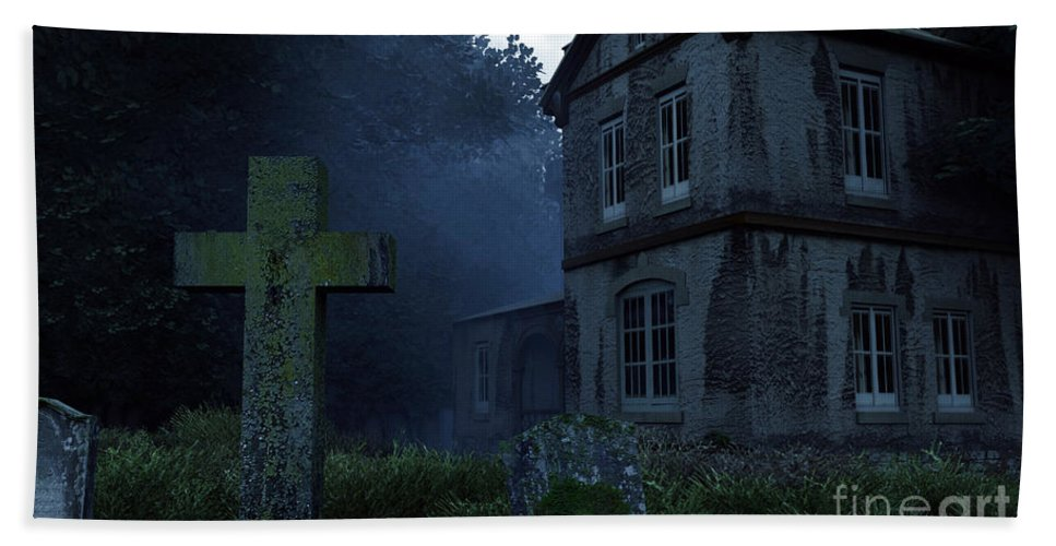 Dark Beach Towel featuring the digital art Keepers Of The Manor by Richard Rizzo