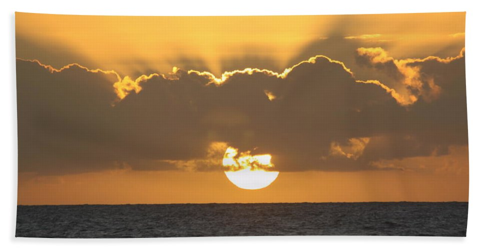 Sunset Beach Towel featuring the photograph Kekaha Sunset by Lauri Novak