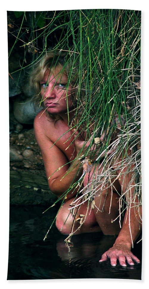 Woman Nude Photo Beach Towel featuring the photograph Kelly Nude by Peter Piatt