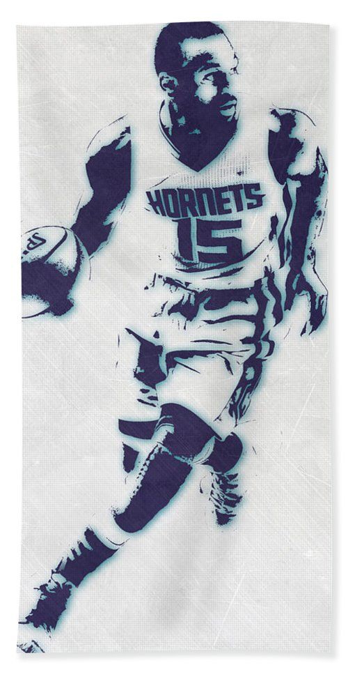 new product 84d03 8c958 Kemba Walker Charlotte Hornets Pixel Art Beach Towel