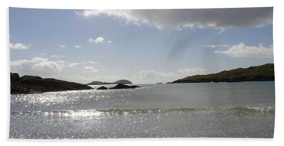 Beach Towel featuring the photograph Kerry Beach by Kelly Mezzapelle
