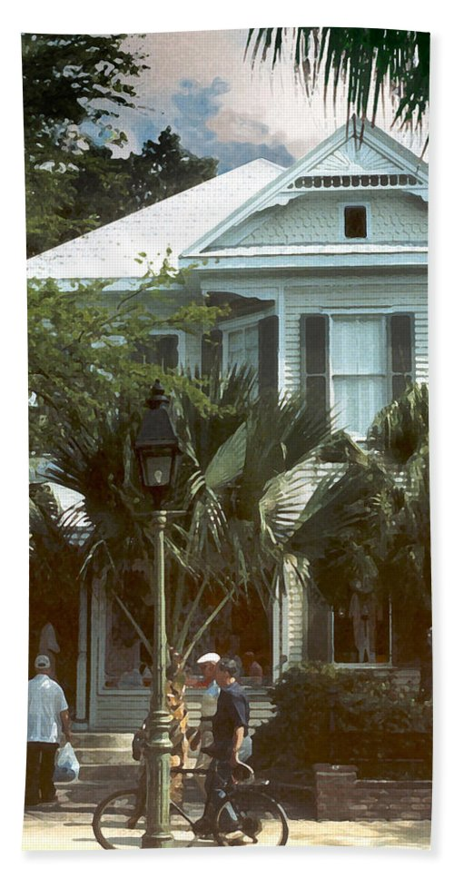 Historic Beach Sheet featuring the photograph Keywest by Steve Karol
