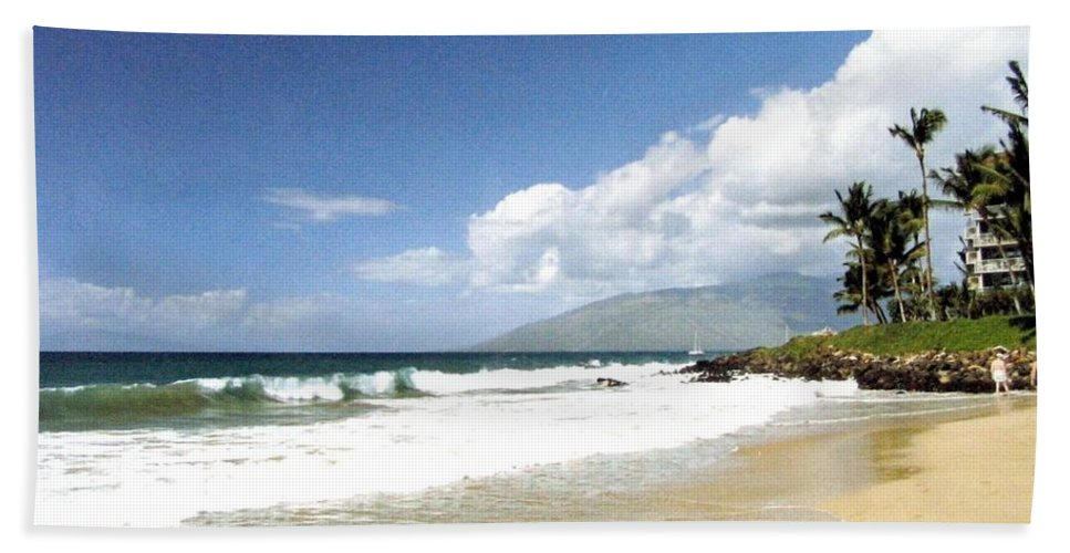 1986 Beach Towel featuring the photograph Kihei by Will Borden