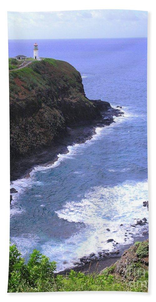 Lighthouse Beach Towel featuring the photograph Kilauea Lighthouse And Bird Sanctuary by Mary Deal