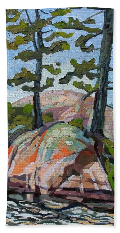 Killarney Beach Towel featuring the painting Killarney Point- The Phlip Side by Phil Chadwick