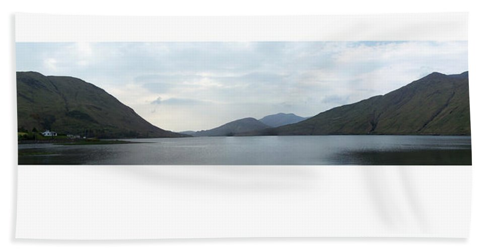 Landscape Beach Towel featuring the photograph Killary Harbour Leenane Ireland by Teresa Mucha