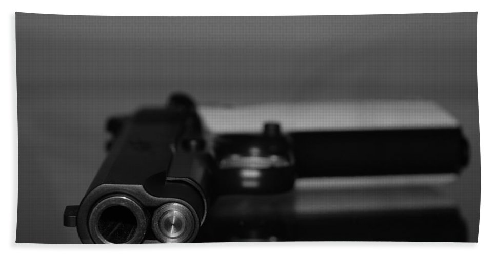 45 Auto Beach Towel featuring the photograph Kimber 45 by Rob Hans