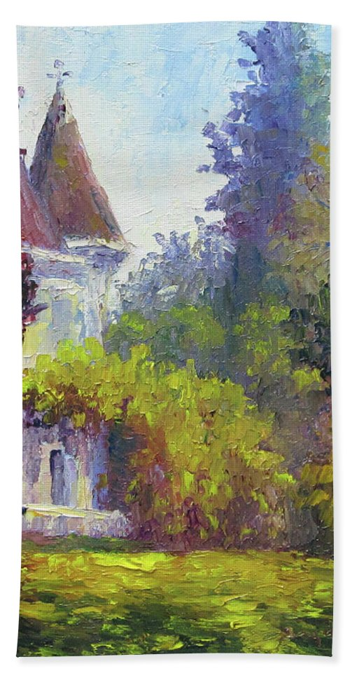 Impressionist Beach Towel featuring the painting Kimberly Crest by Terry Chacon