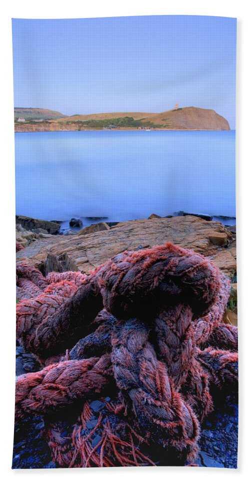 Kimmeridge Beach Towel featuring the photograph Kimmeridge Bay In Dorset by Ian Middleton