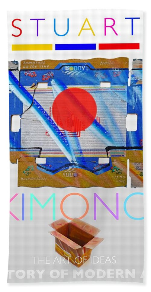 De Stijl Beach Towel featuring the painting Kimono Poster by Charles Stuart
