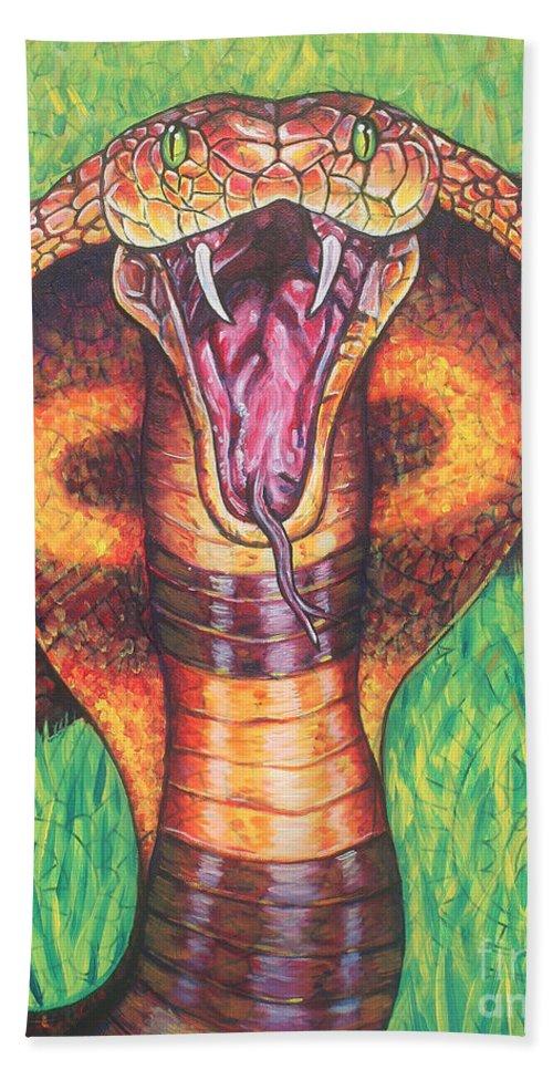 King Cobra Beach Towel for Sale by Natalie Huggins