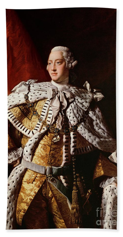 King Beach Towel featuring the painting King George IIi by Allan Ramsay