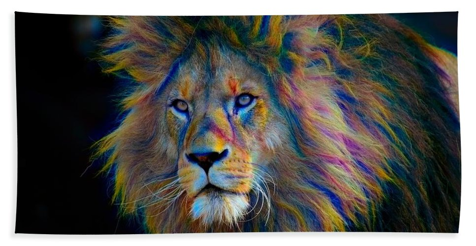 Abstract Beach Towel featuring the photograph King Of The Jungle by Robert Kinser