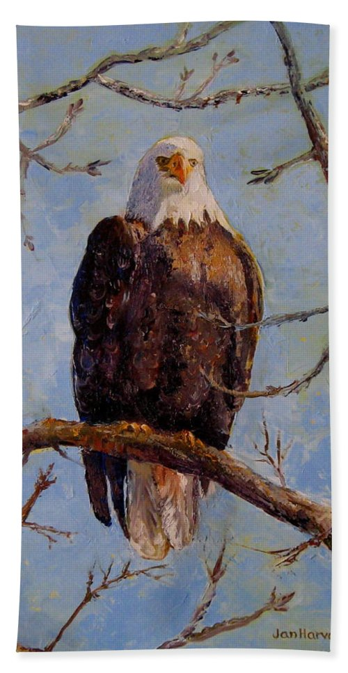 Eagle Beach Towel featuring the painting King Of The Mississippi by Jan Harvey
