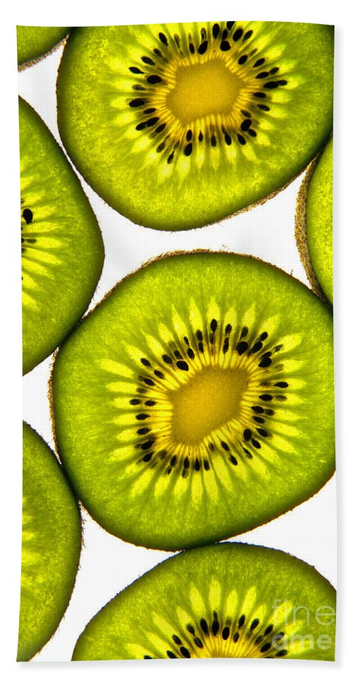 Kiwi Fruit Beach Towel featuring the photograph Kiwi Fruit by Bruce Stanfield