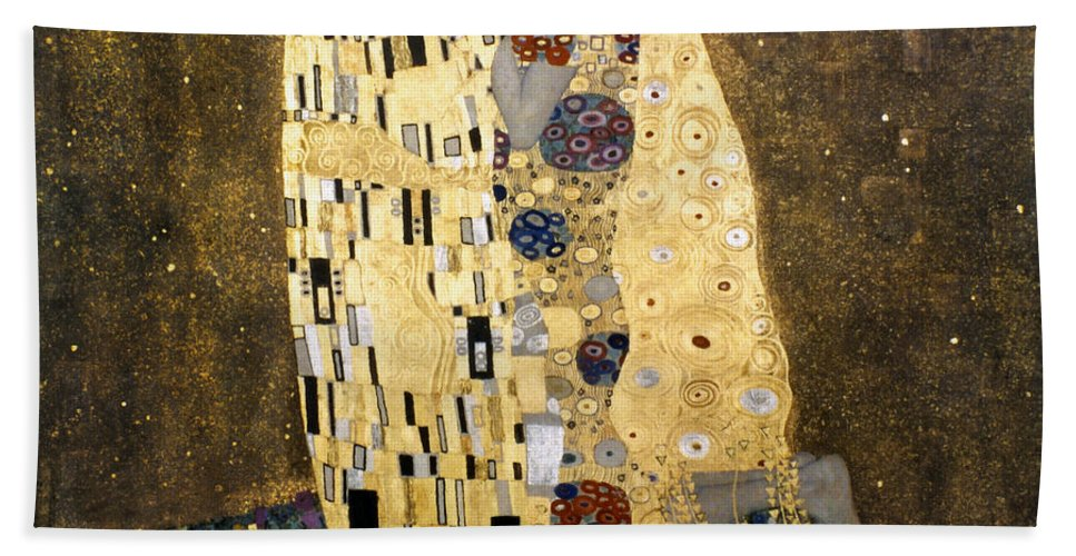1907 Beach Towel featuring the photograph Klimt: The Kiss, 1907-08 by Granger