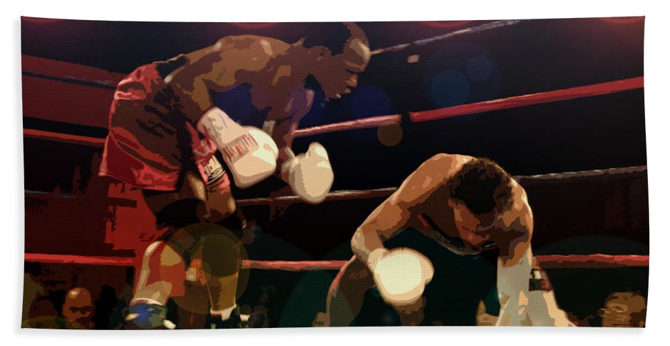 Artwork Beach Towel featuring the painting Knockdown by David Lee Thompson