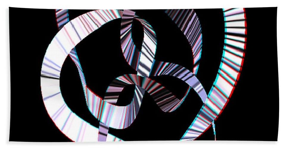 3d Beach Towel featuring the digital art Knotplot 2 - Use Red-cyan 3d Glasses by Brian Wallace