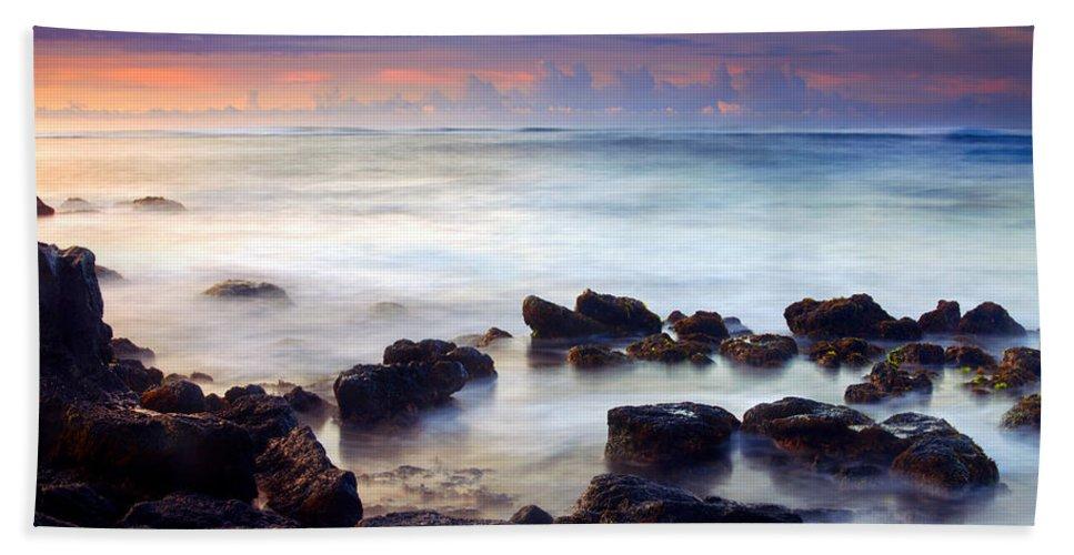 Koloa Beach Towel featuring the photograph Koloa Sunrise by Mike Dawson