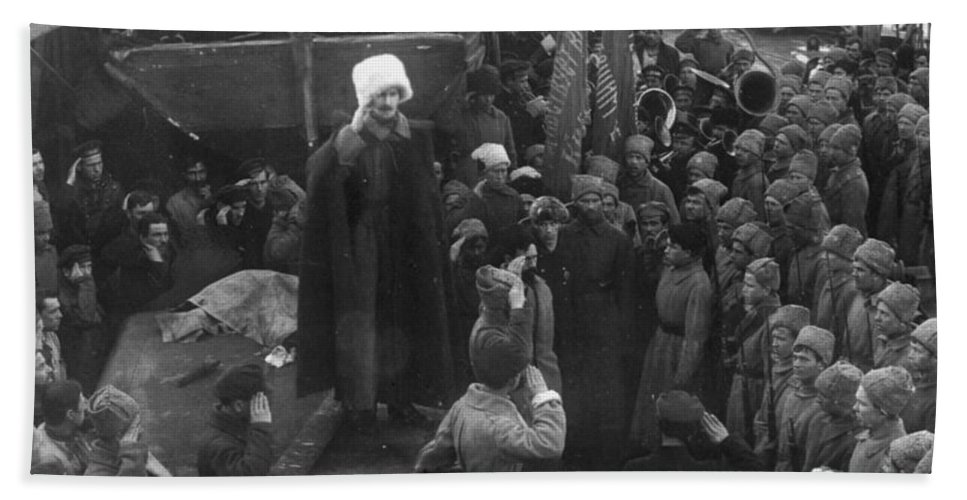 1921 Beach Towel featuring the photograph Kronstadt Mutiny, 1921 by Granger