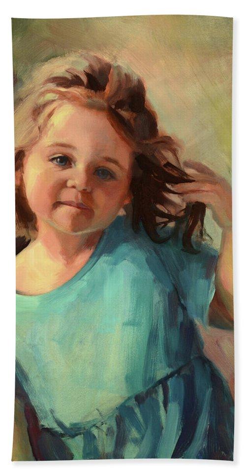Child Beach Towel featuring the painting Kymberlynn by Steve Henderson