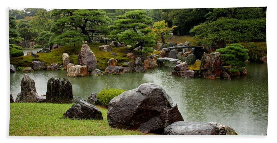 Japan Beach Towel featuring the photograph Kyoto Garden by Carol Groenen