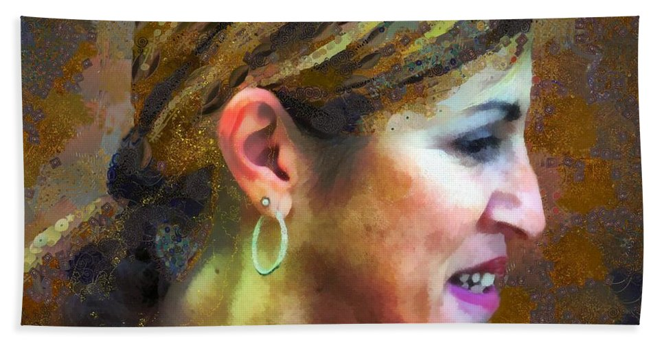 Colorful Beach Towel featuring the painting La Principessa by RC DeWinter