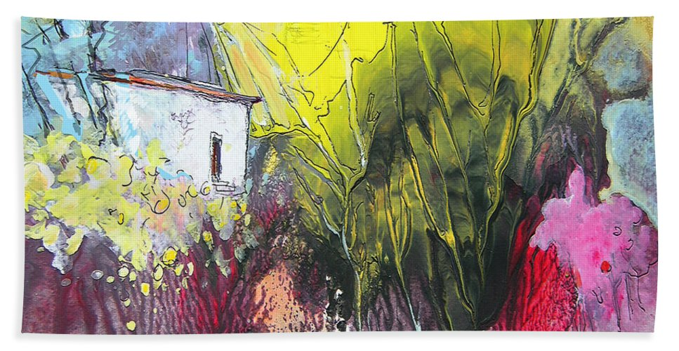 Impressionism Beach Towel featuring the painting La Provence 18 by Miki De Goodaboom
