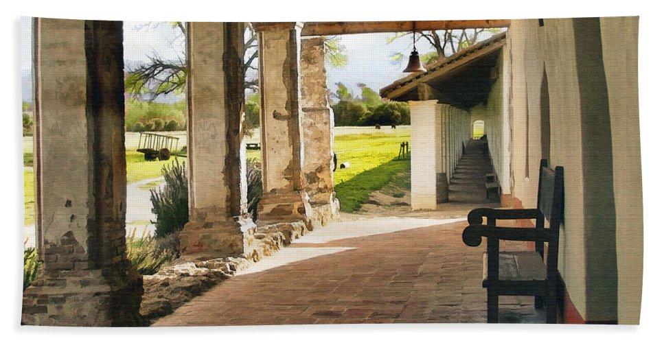 La Purisima Beach Towel featuring the digital art La Purisima Long View by Sharon Foster