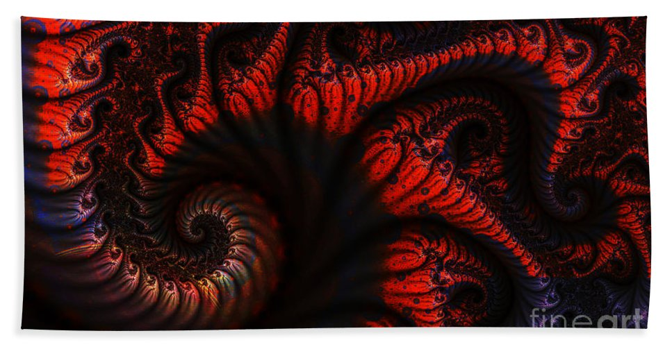 Clay Beach Towel featuring the digital art Labyrinth by Clayton Bruster