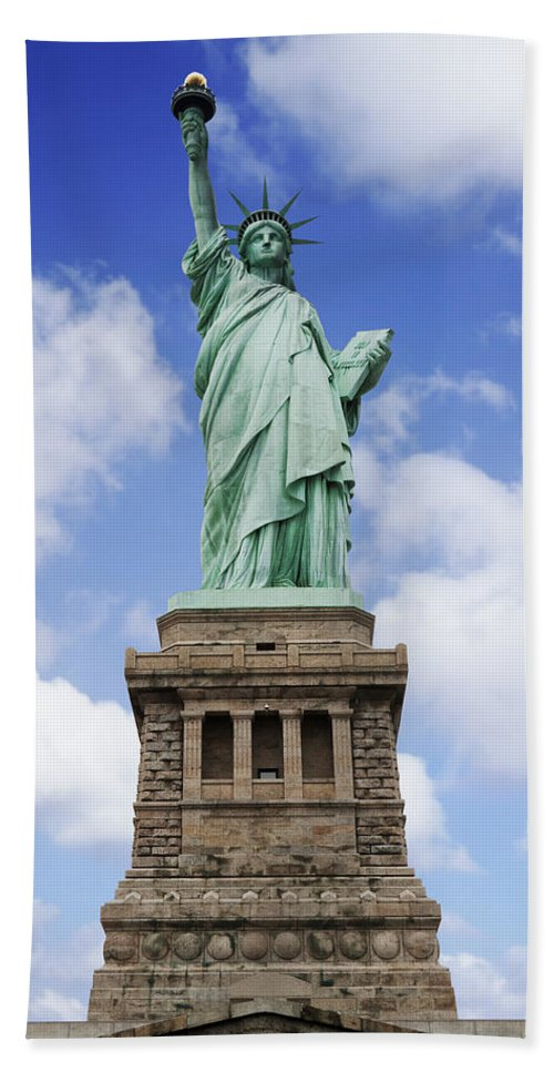 Statue Of Liberty Beach Towel featuring the photograph Lady Liberty by Kelley King